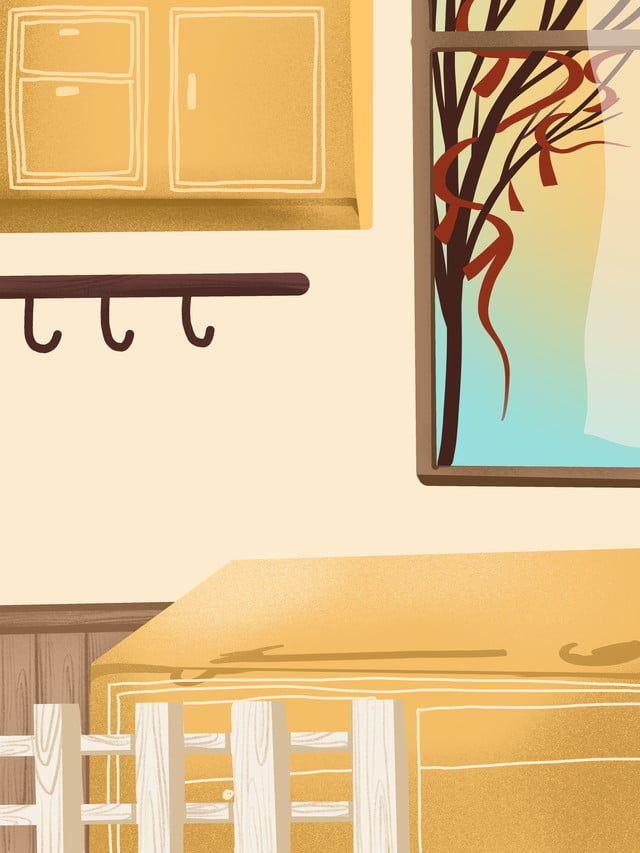 Simple Painted Home Kitchen Cabinet Background Design