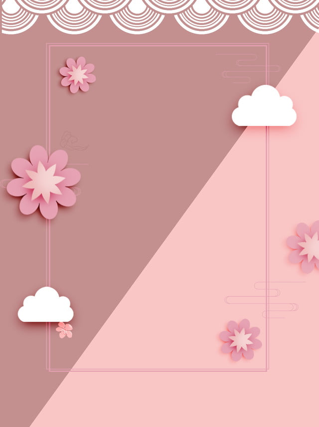 Simple Paper Cut Style Flowers Summer Background, Small Fresh, Beautiful,  Elegant Background Image For Free Download