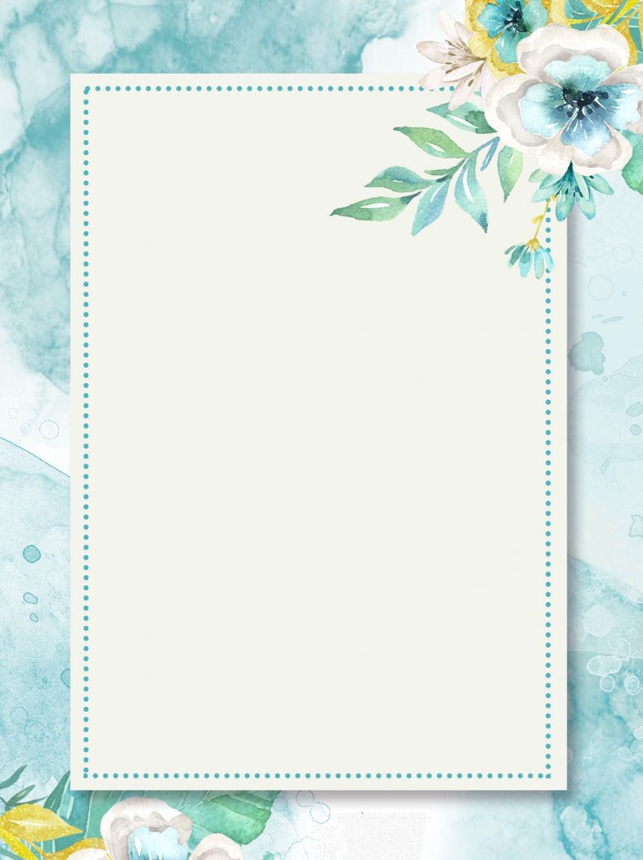 Small Fresh Plant Floral Watercolor Background Small Fresh Plant