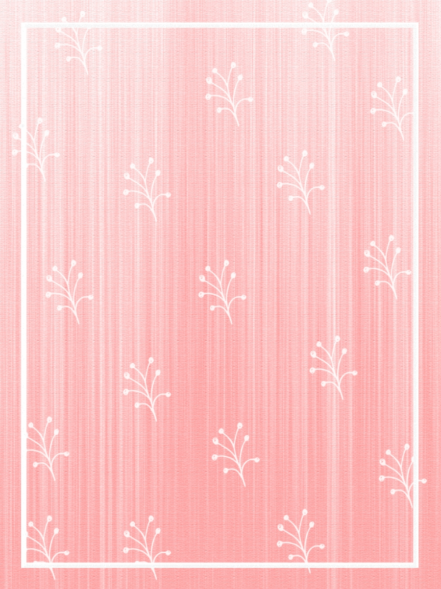 Teenage Pink Hand Painted Floral Background Border Texture Pattern