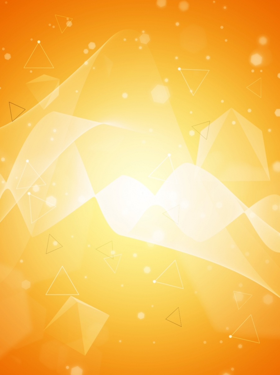 Triangle Geometric Texture Yellow Business Vector Background