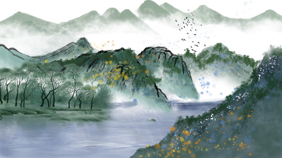 watercolor landscape forest background design chinese painting grove watercolour background image for free download https pngtree com freebackground watercolor landscape forest background design 1135970 html