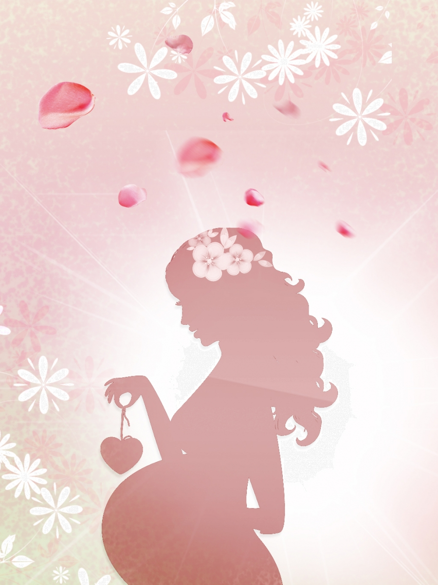 Women S Day Background With Silhouette Of Pregnant Woman Background Background Card Background Image For Free Download