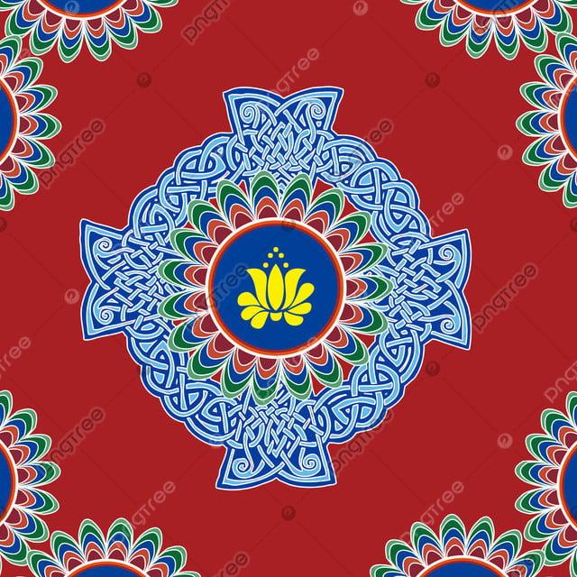 Latar Belakang Agama Buddha Tibet, Buddhisme Tibet, Merah Biru, Karpet  Gambar Latar Belakang untuk Unduhan Gratis