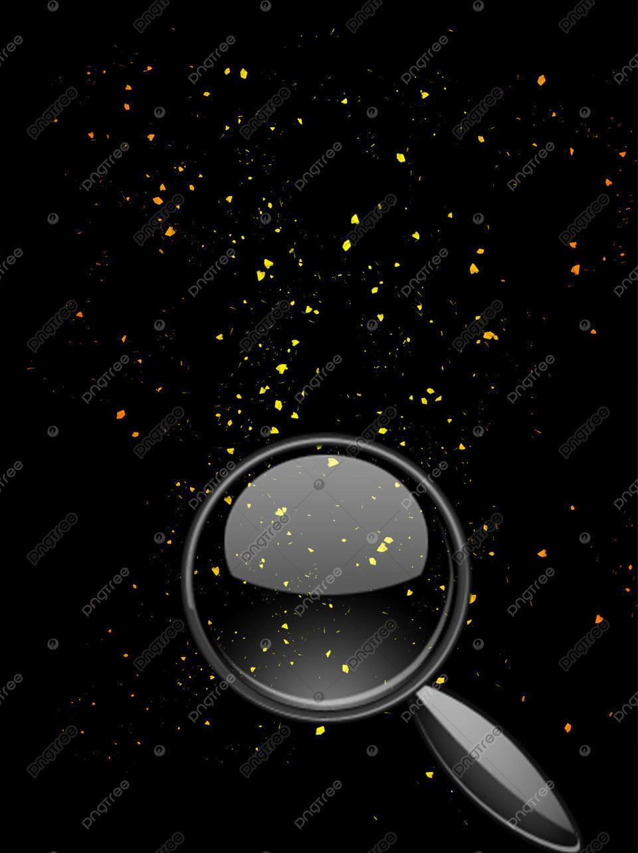 Bahan Latar Belakang Rekrutmen Kaca Pembesar Emas Hitam Emas Hitam Kaca Pembesar Pengerahan Gambar Latar Belakang Untuk Unduhan Gratis