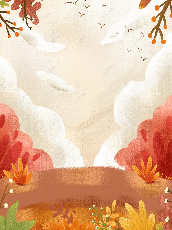 無料ダウンロードのための秋のツアー落葉風景テクスチャイラスト背景 秋のツアー 落葉性の風景 共通の背景の背景画像