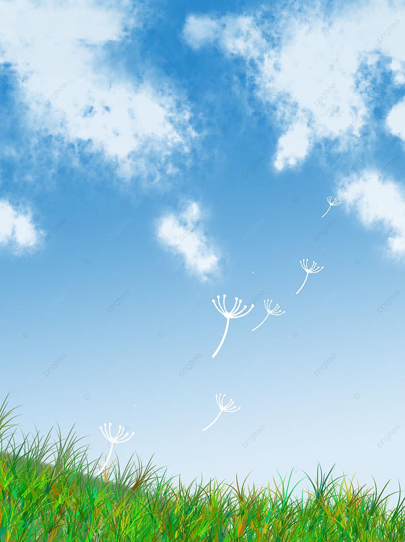 Langit Biru Dan Latar Belakang Awan Putih Rumput Sederhana, Langit Biru,  Baiyun, Rumput Gambar Latar Belakang Untuk Unduhan Gratis