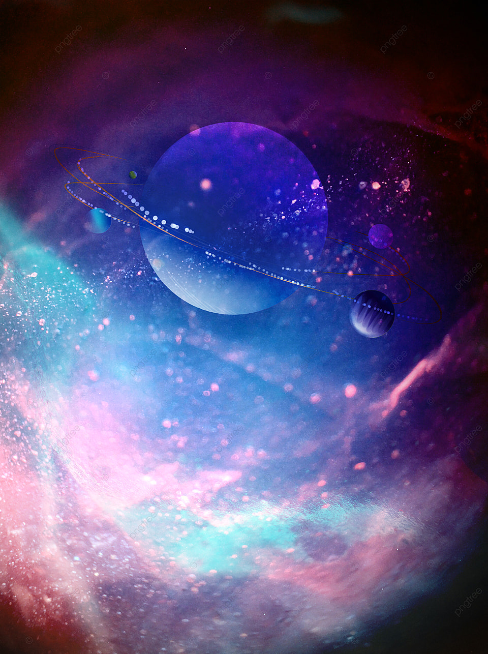 Fantasy Universe Celestial Body Shine Starry Sky Background ...