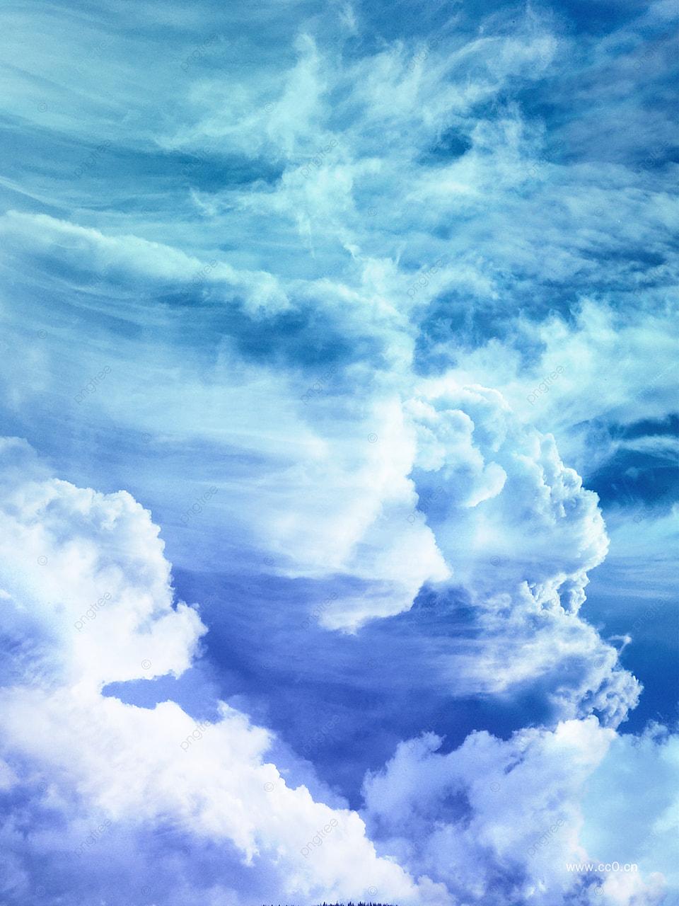 Langit Biru Dan Bahan Latar Belakang Awan Putih, Latar Belakang Poster Film  Fiksi Ilmiah, Latar Belakang Keren, Awan Gambar Latar Belakang Untuk  Unduhan Gratis