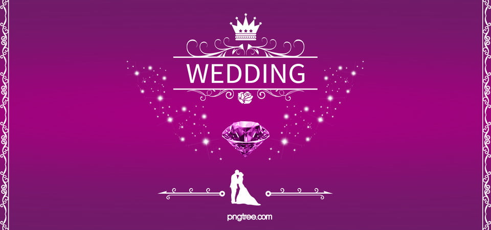 Wedding Background Diamond Purple Wedding Romantic