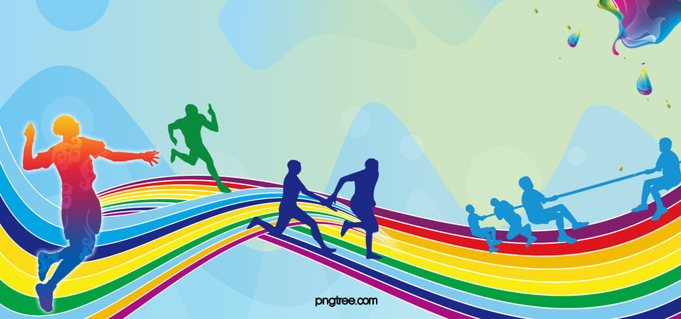 Sport Wallpaper Cartoon: Background Games, Sports, Panels, Track Background Image