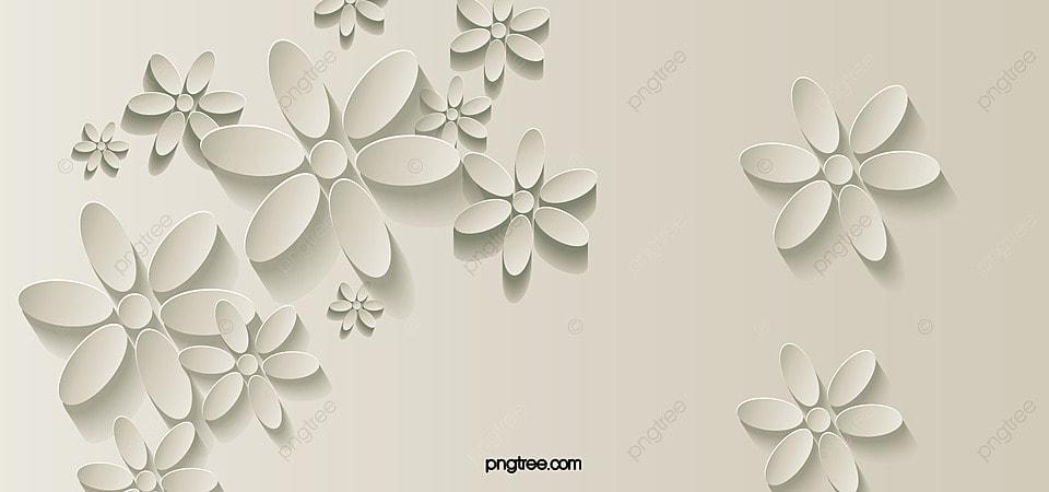 White 3d stereoscopic flower background banner white 3d white 3d stereoscopic flower background banner mightylinksfo Images