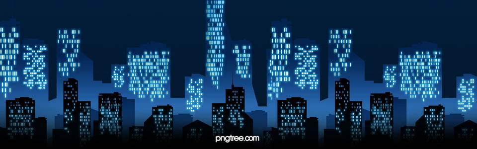 night view of the bustling city backgrounds
