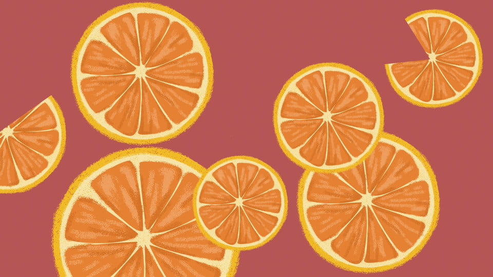 Tasty Sliced Oranges Background Orange Fruit Poster