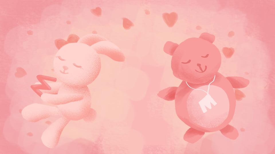 love teddy bear background teddy bear cartoon background image
