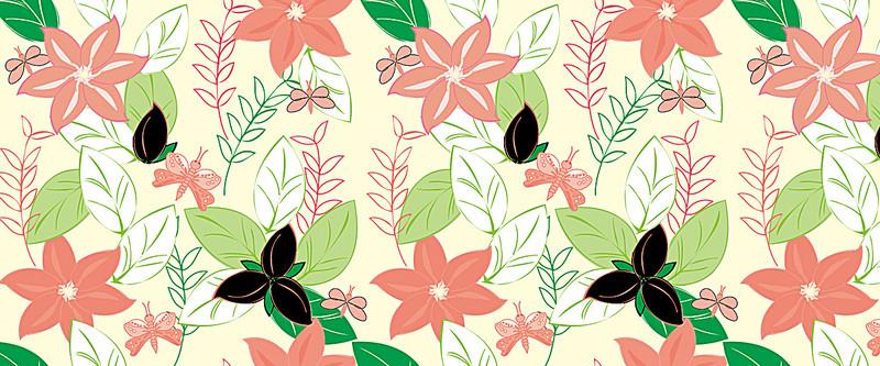 Pretty flowers background pattern butterfly poster banner pretty flowers background mightylinksfo