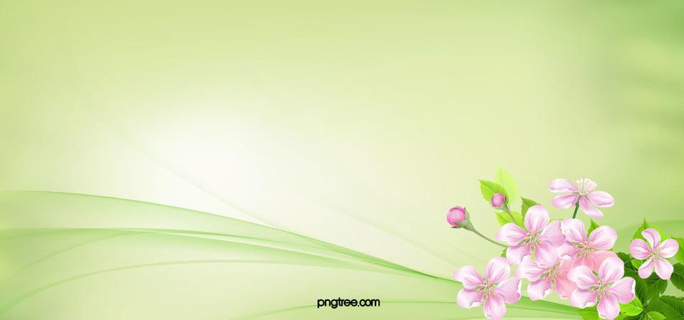Fresco Flores Verde Antecedentes Flores Bien Tarjeta Imagen De Fondo