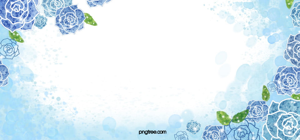 Acquarello Blu Rose Sfondo Fiori Blu Blue Rose Dipinta A Mano Fiori