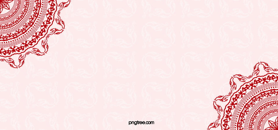 Romantic Wedding Background Pattern Red Image