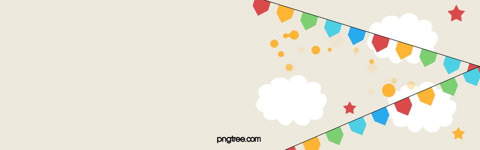 cute birthday banner clouds happybirthday birthday background