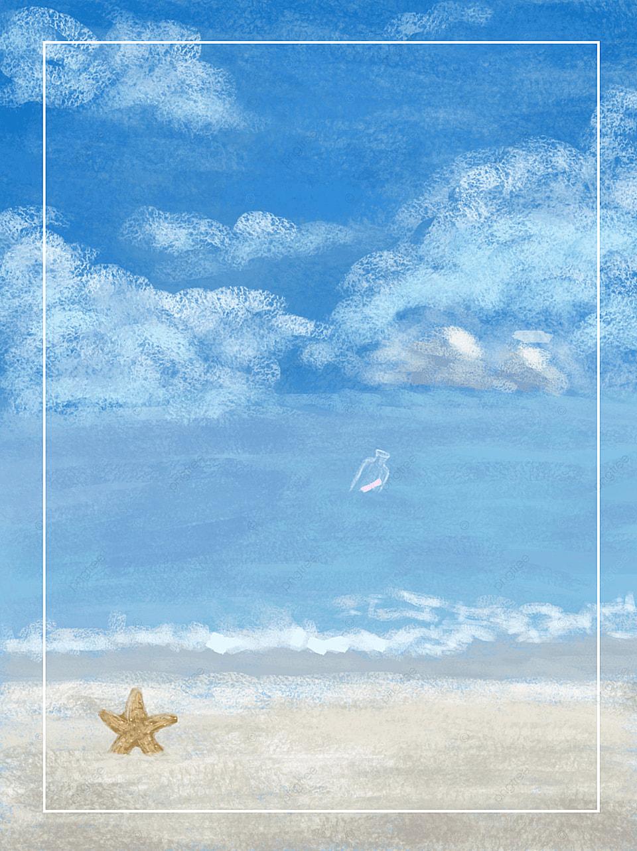 Sabbia Beach Mare Oceano Sfondo Sky Paesaggio Viaggi Immagine Di