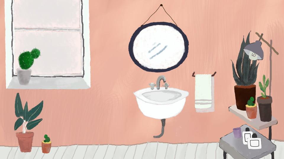 Bathroom scene graph