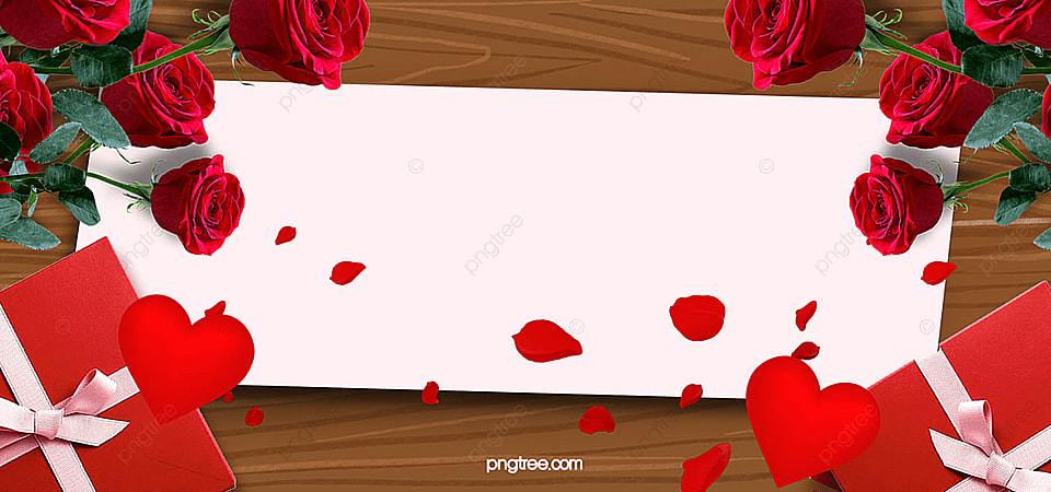 valentines day banner background valentines day romantic gift roses poster banner romantic background image
