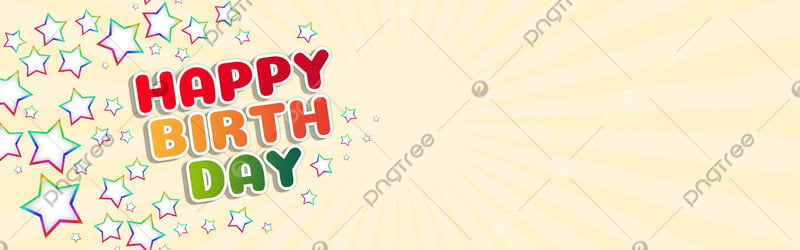 Happy Birthday Background Birthday Happy Five Pointed Background Image For Free Download