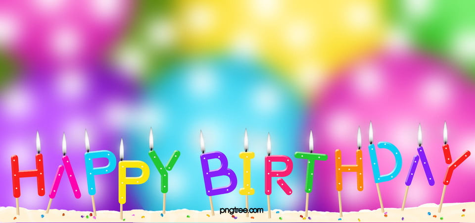 Colorful Birthday Background Colorful Birthday Candle Background Image For Free Download