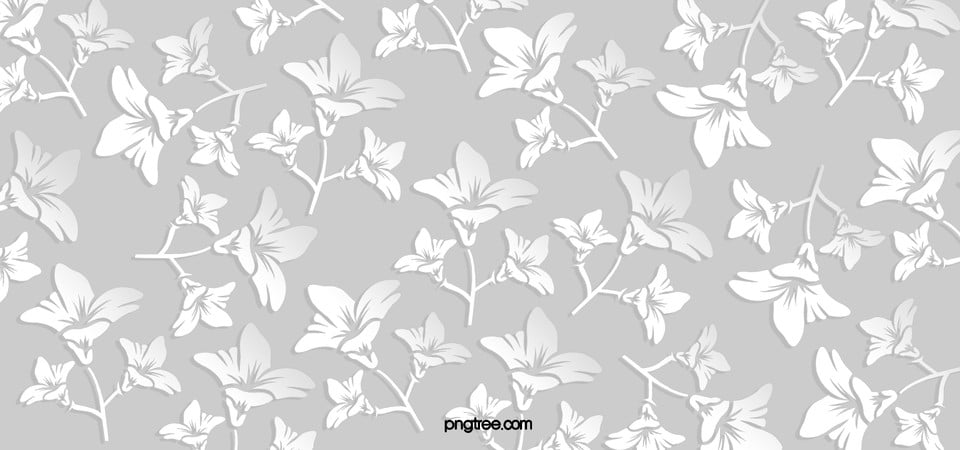 Black And White Floral Pattern Wallpaper: White Floral Pattern Seamless Background, Cherry Blossoms