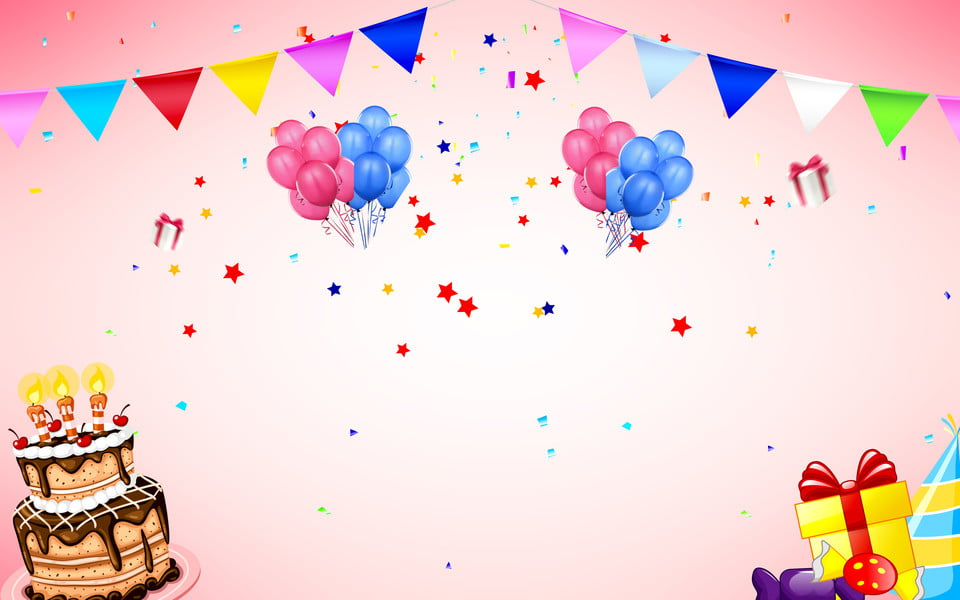 Banner Feliz Aniversario: Feliz Aniversário Balões Banner Fundo, Colorido, Balões