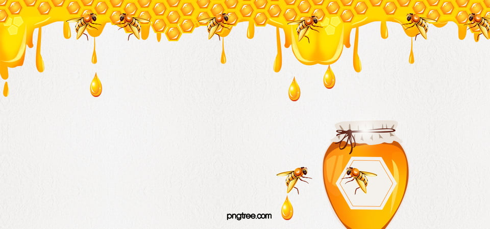 Honey Background Honey Food Cartoon Background Image
