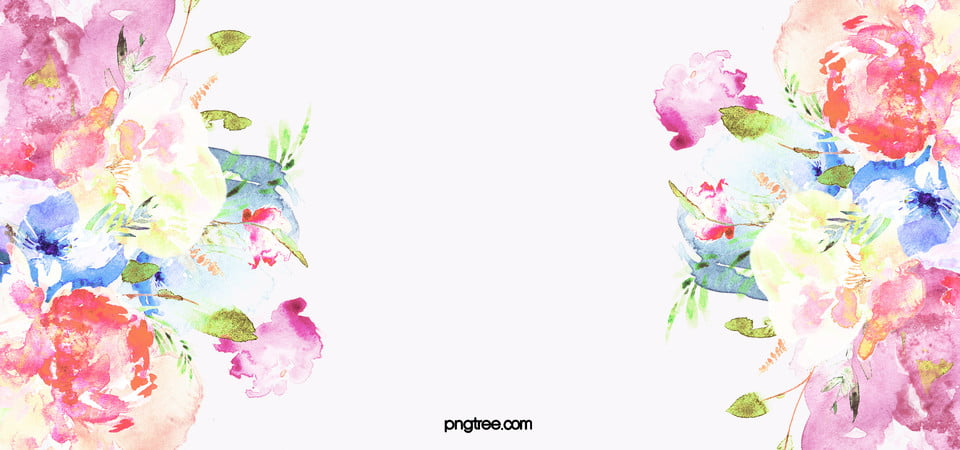 Watercolor Flower Background Png