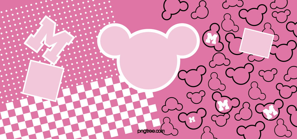 Disney Minnie Pink Background Image