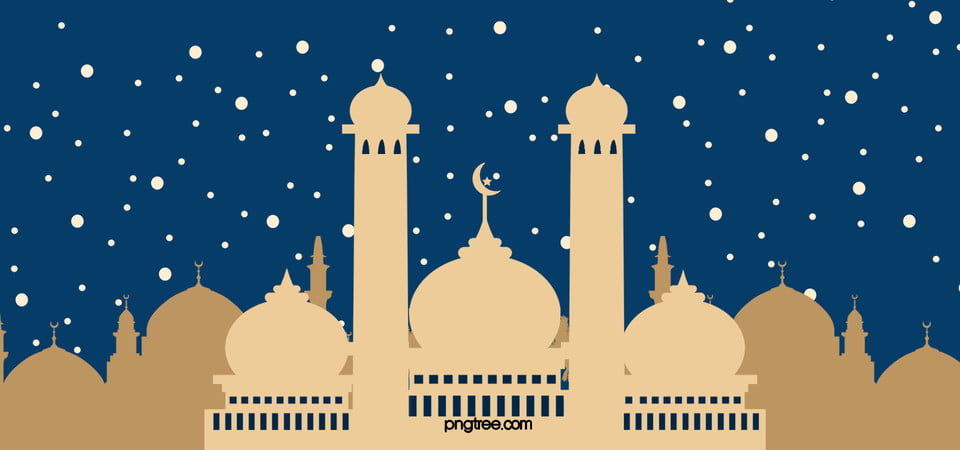 Mosque silhouette cartoon