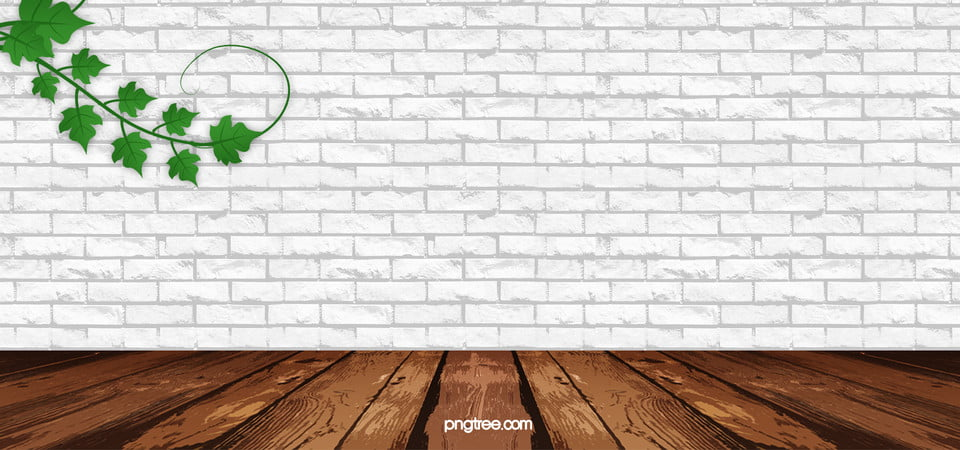 Fresh White Brick Wall And Green Plants Background White Brick Wall Background Image For Free Download