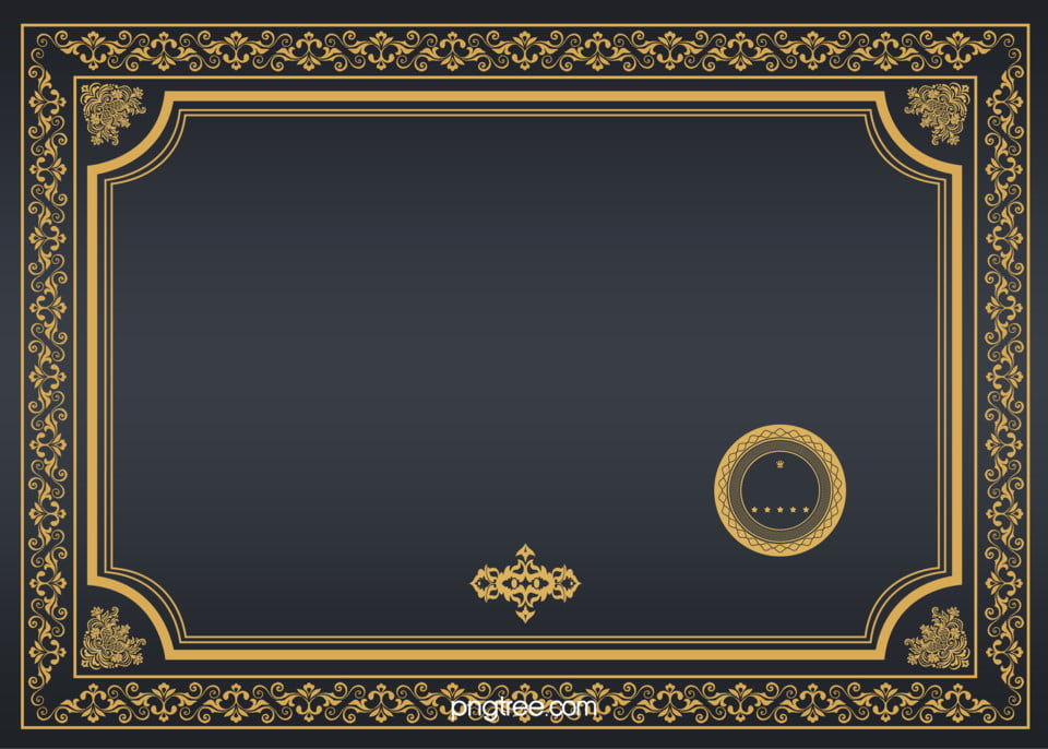 gold certificate, Pattern, Golden, Black Business ...