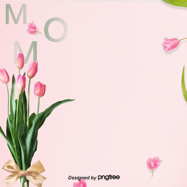 Pink Mothers Day Flyer Template For Free Download On Pngtree: Pink Tulips Poster, Pink, Tulip, Flowers Background Image
