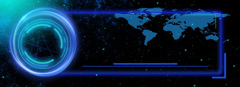 blue business world map background
