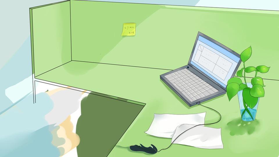 Fresh White Minimalist Office Desktop Simple Background Image