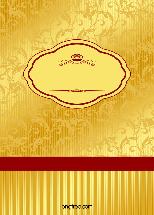 Wedding Invitation Card Background Golden European Border