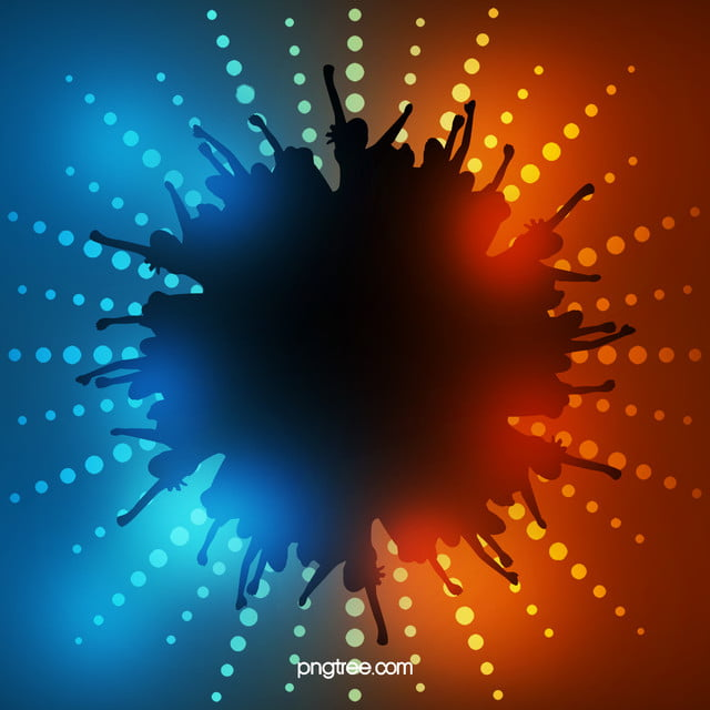 Halftone Music Lights Wallpaper Background Dj Blue Orange