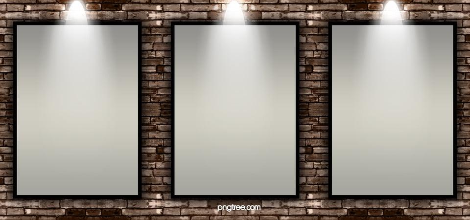 Marco de la foto en la pared, Pared, Frame, Pared De Ladrillo Imagen ...