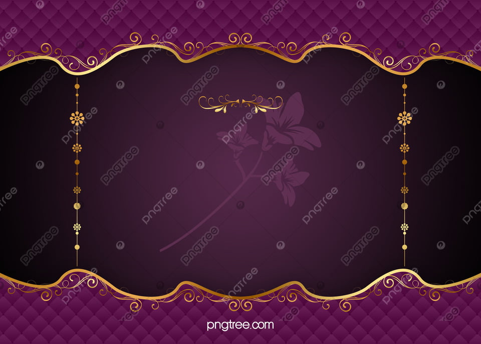 ca902cdd3398 Purple Elegant Pattern Vector European Gold Frame Background