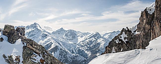 Montaña Nevada Hd: Paisajes Nevados HD, La Montaña De Nieve, Vista, HD