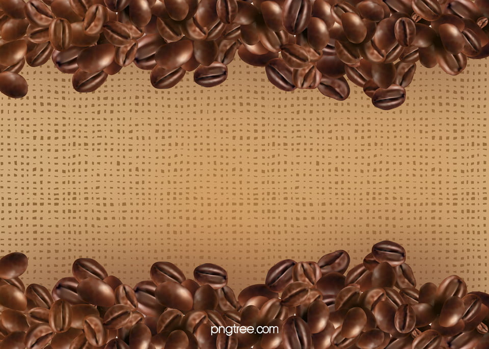 Sprinkle On A Piece Of Burlap Coffee Beans Linen Coffee