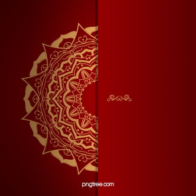 Red Wedding Invitation Vector Background Red Golden Grain