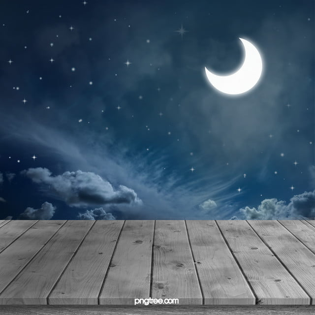 sky beautiful scenery wood hd photo board night view
