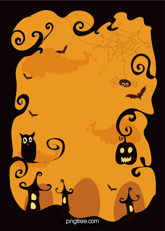 無料ダウンロードのための黄色ハロウィン活動ポスターの背景