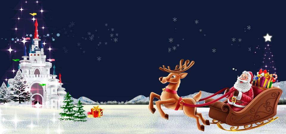 santa claus background - Santa Claus And Reindeers